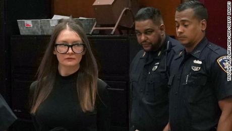 Fake German heiress Anna Sorokin arrives in court  during her sentencing at Manhattan Supreme Court May 9, 2019 following her conviction last month on multiple counts of grand larceny and theft of services (Photo by TIMOTHY A. CLARY / AFP)        (Photo credit should read TIMOTHY A. CLARY/AFP/Getty Images)