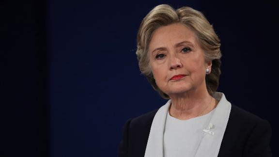 ST LOUIS, MO - OCTOBER 09:  Democratic presidential nominee former Secretary of State Hillary Clinton listens to a question during the town hall debate at Washington University on October 9, 2016 in St Louis, Missouri. This is the second of three presidential debates scheduled prior to the November 8th election.  (Photo by Chip Somodevilla/Getty Images)