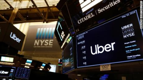 Uber opens below IPO price in market debut