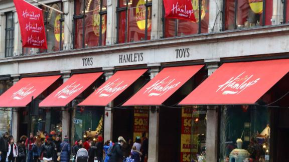 Hamleys, founded in London, has 167 stores across 18 countries.