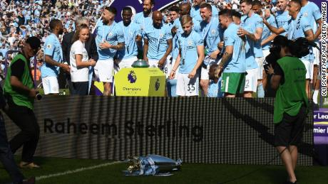 Manchester City celebrated so hard when they won the Premier League in 2018 that they dropped the trophy onto the pitch.