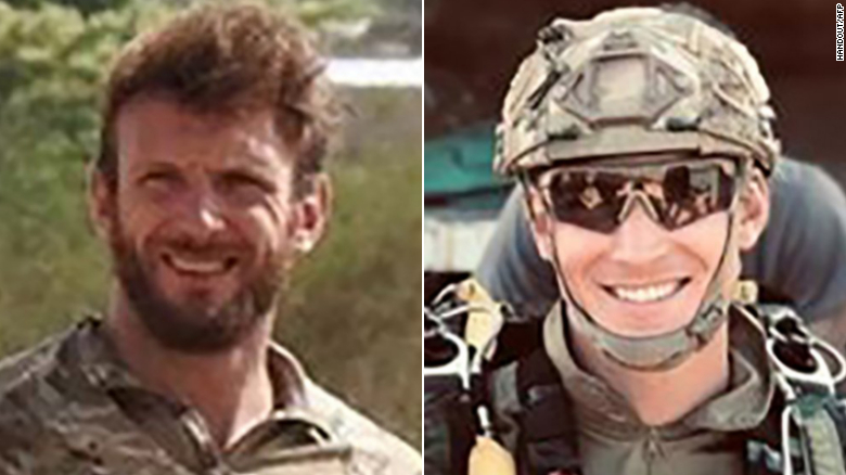 French soldiers Cedric de Pierrepont, left, and Alain Bertoncello were killed in the mission.