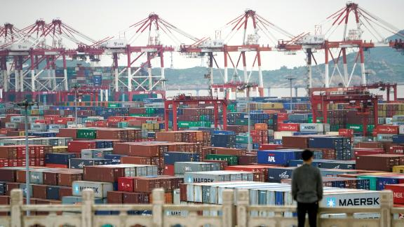 FILE PHOTO: Containers are seen at the Yangshan Deep Water Port in Shanghai, China April 24, 2018. REUTERS/Aly Song/File Photo