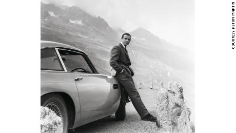 Sean Connery with 1964 Aston Martin DB5 used in the movie