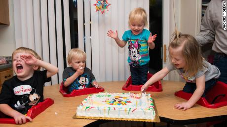 Only for use with related CNN Photos story: https://www.cnn.com/interactive/2019/05/health/quadruplets-cnnphotos/index.html