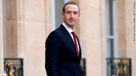 PARIS, FRANCE - MAY 10: Facebook CEO Mark Zuckerberg leave the Elysée Palace after a meeting with French President Emmanuel Macron at Elysee Palace on May 10, 2019 in Paris, France. President Macron and Zuckerberg will talk about cracking down the spread of misinformation and hate speech. (Photo by Antoine Gyori/Corbis via Getty Images)