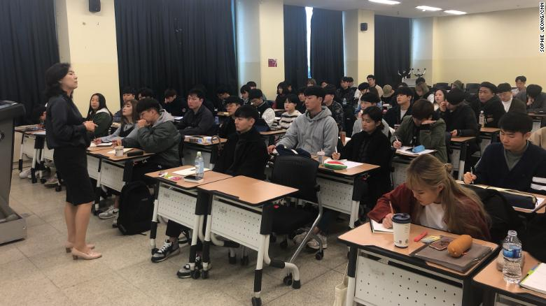 """The """"Gender and Culture"""" course at Seoul's Sejong University teaches students the various aspects of dating, love and sex, such as how to reach orgasm, erogenous zones and the psychology of sex."""
