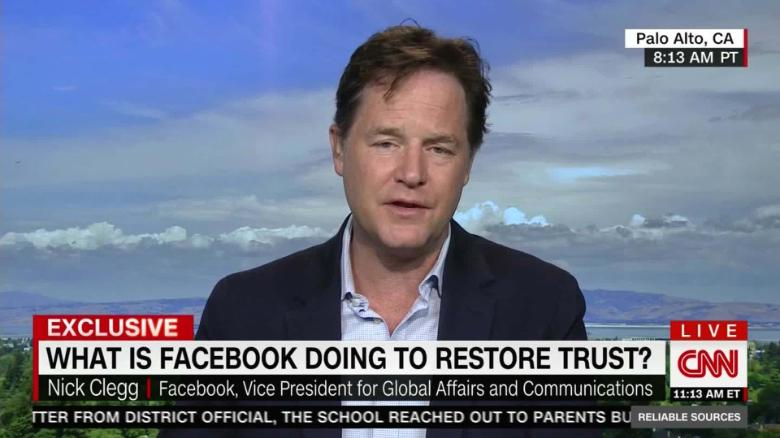 Facebooks First President On Facebook >> Facebook S Nick Clegg We Know We Have Problems But Breaking