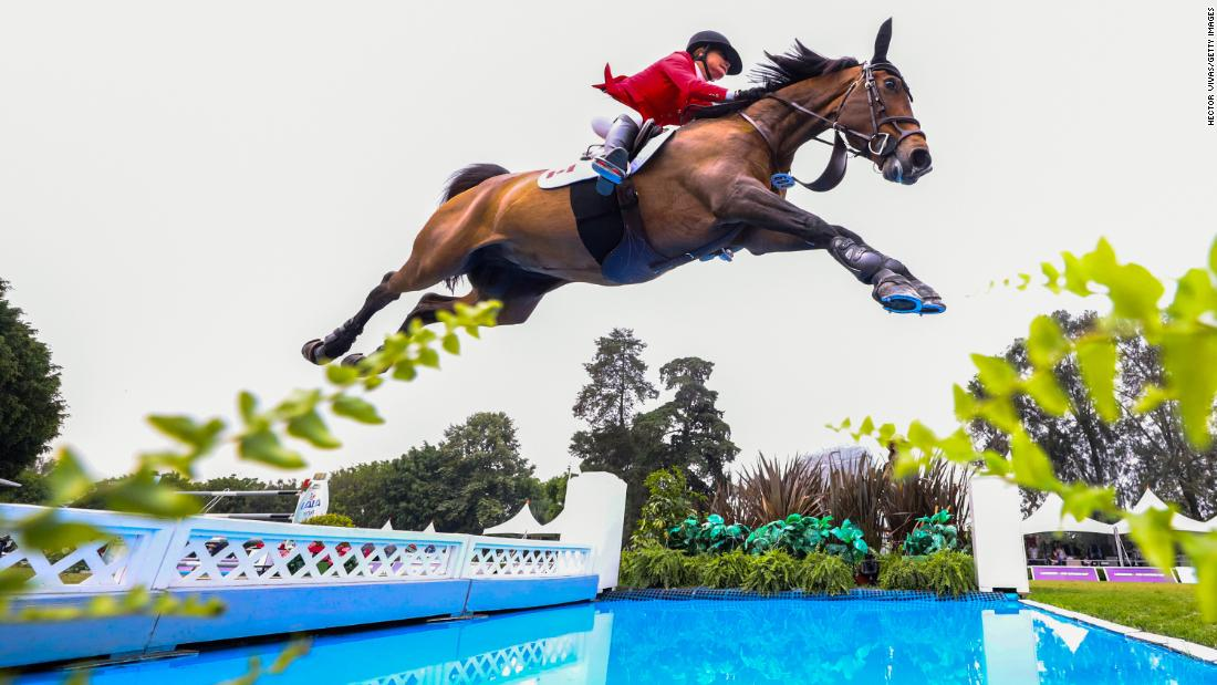 Lisa Carlsen of Canada riding Parette competes during the Longines FEI Jumping Nations Cup - Coapexpan on May 5, 2019, in Xalapa, Mexico.