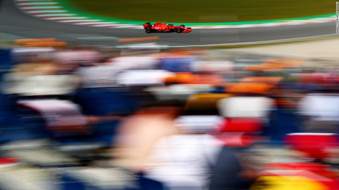 Charles Leclerc of Monaco driving the (16) Scuderia Ferrari SF90 on track during practice for the F1 Grand Prix of Spain at Circuit de Barcelona-Catalunya on May 10, 2019 in Barcelona, Spain.