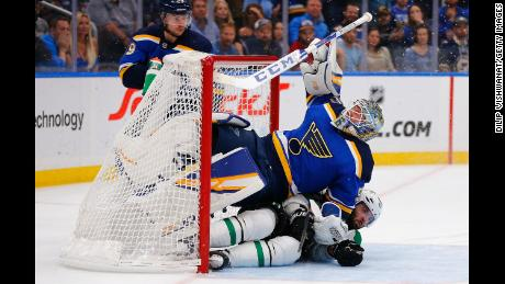 The Blues won the first Stanley Cup in franchise history last season.