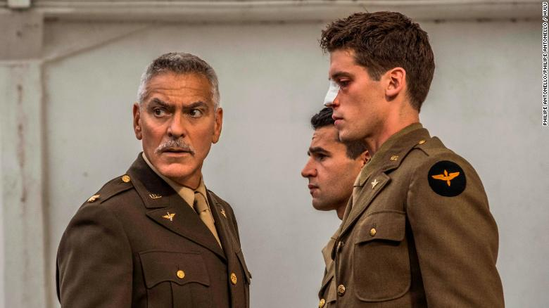 George Clooney, Christopher Abbott and Pico Alexander in 'Catch-22.' (Photo by: Philipe Antonello / Hulu)