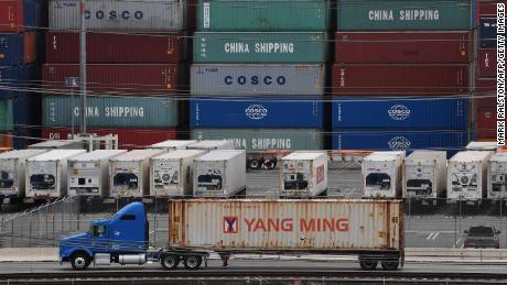 Unloaded containers from Asia are seen at the main port terminal in Long Beach, California on May 10, 2019. - Two days of talks to resolve a worrisome US-China trade battle ended Friday, May 10, 2019 with no deal, but no breakdown either, offering a glimmer of hope that Washington and Beijing could find a way to avert damage to the global economy. (Photo by Mark RALSTON / AFP)        (Photo credit should read MARK RALSTON/AFP/Getty Images)