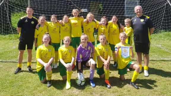 Plymouth-based SB Frankfort Under-12 Girls have completed a remarkable league and cup double.