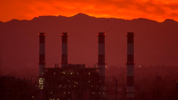 SUN VALLEY, CA - MARCH 10: The gas-powered Valley Generating Station is seen in the San Fernando Valley on March 10, 2017 in Sun Valley, California. Atmospheric carbon dioxide levels reached a new record high in 2016 and have continued to climb in the first two months of 2017, scientists at the National Oceanic and Atmospheric Administration (NOAA) reported today. The vast majority of climate scientists contend that increasing greenhouse gas emissions drive climate change but new Environmental Protection Agency (EPA) Administrator Scott Pruitt disagrees.  (Photo by David McNew/Getty Images)
