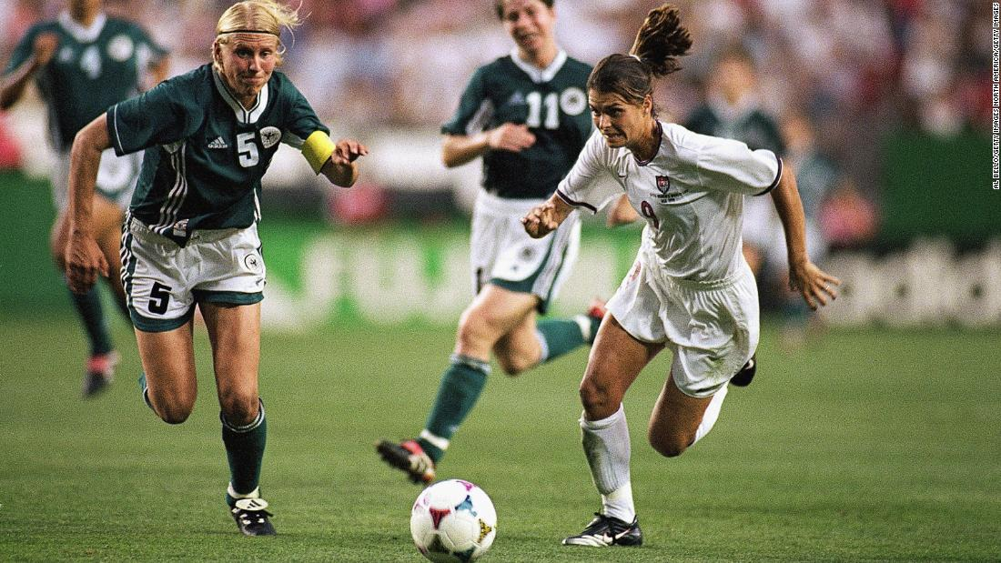 For three weeks, the best female footballers in the world showcased their talents. USA's Mia Hamm was undoubtedly one of the stars of the tournament and has since been selected by Pele as one of the top 100 greatest living footballers.