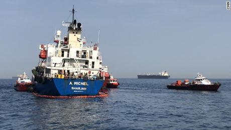 "UAE tanker A. Michel involved in Sunday's ""sabotage"" incident off the coast of Fujairah."