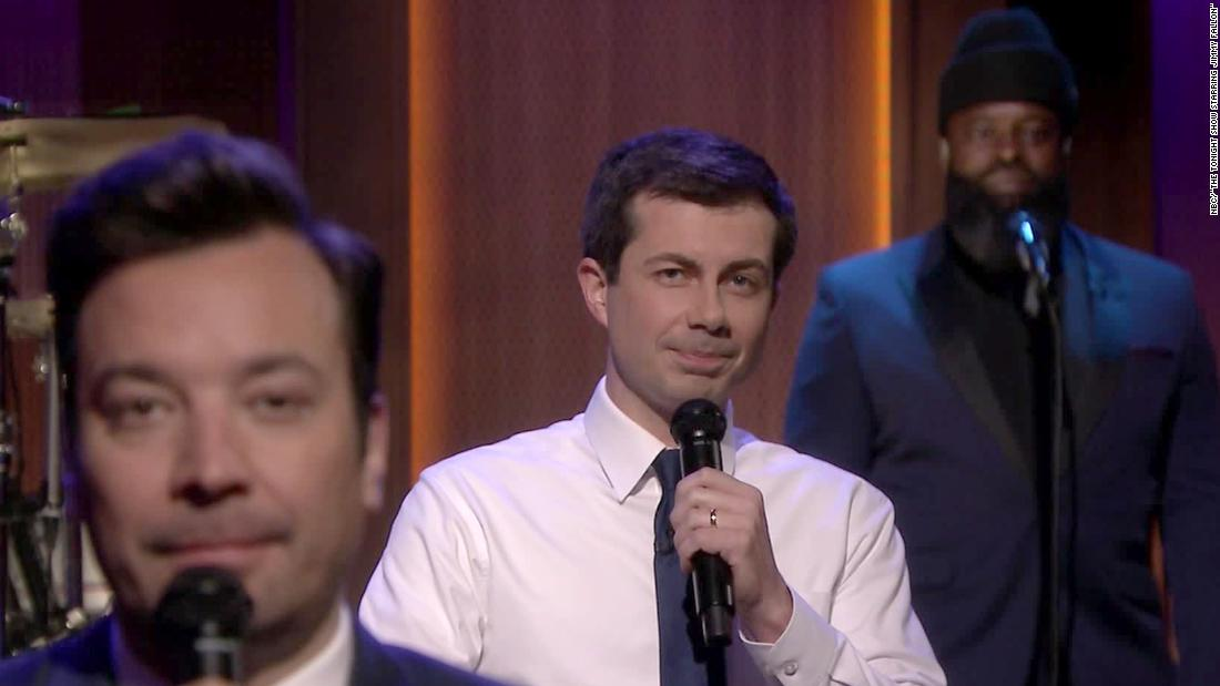 See how candidates campaign on late-night TV