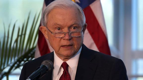 MIAMI, FL - AUGUST 16:  U.S. Attorney General Jeff Sessions speaks at PortMiami on what he said is a growing trend of violent crime in sanctuary cities on August 16, 2017 in Miami, Florida.  The speech highlighted jurisdictions like Miami-Dade that Mr. Sessions told the audience have increased their cooperation and information sharing with federal immigration authorities and have demonstrated a fundamental commitment to the rule of law and lowering violent crime.  (Photo by Joe Raedle/Getty Images)