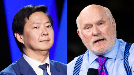 Ken Jeong, left, and Terry Bradshaw