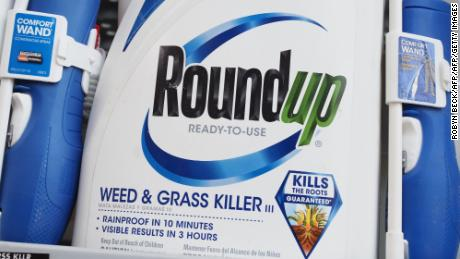 Bottles of Monsanto's Roundup are seen for sale June 19, 2018 at a retail store in Glendale, California. - A former groundskeeper who contracted terminal cancer after years of working with Roundup, a popular herbicide which Monsanto claims to be safe, is suing the chemical giant over allegations that exposure to the active ingredient in Roundup, a chemical called glyphosate, caused his non-Hodgkin lymphoma (NHL).  San Francisco Superior Court Judge Suzanne Ramos Bolanos has been assigned to the trial which is tentatively expected to begin on June 21. (Photo by Robyn Beck / AFP)        (Photo credit should read ROBYN BECK/AFP/Getty Images)