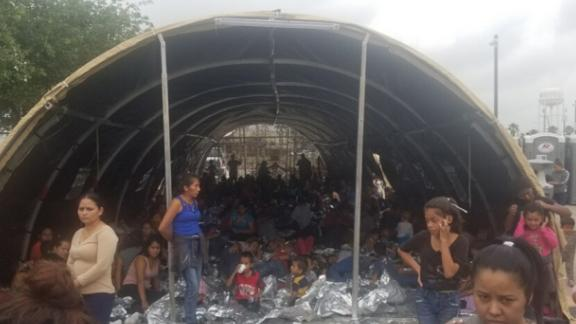 Border Patrol station in McAllen, Texas, in May 2019. Provided by source to CNN.