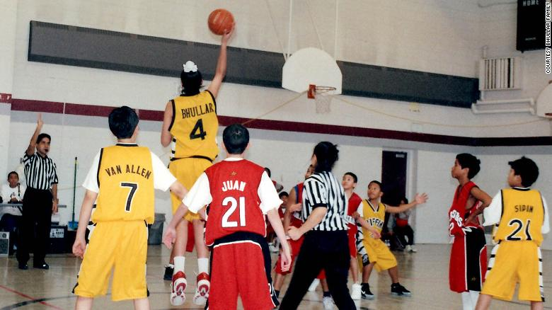 Sim Bhullar scores in a Philippine basketball league in Toronto, Canada, circa 2003-2004.