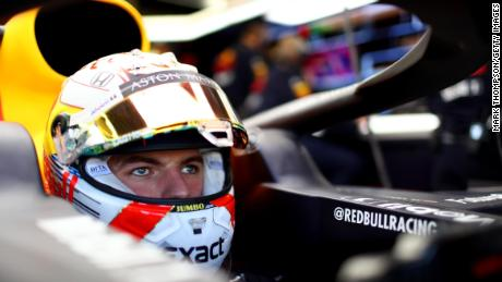 BAKU, AZERBAIJAN - APRIL 27: Max Verstappen of Netherlands and Red Bull Racing prepares to drive in the garage during qualifying for the F1 Grand Prix of Azerbaijan at Baku City Circuit on April 27, 2019 in Baku, Azerbaijan. (Photo by Mark Thompson/Getty Images)
