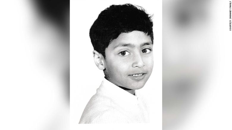 Nitin Sawhney when he was six or seven years old.