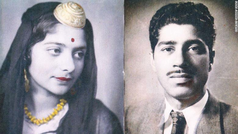 Wedding portraits of Nitin Sawhney's parents.