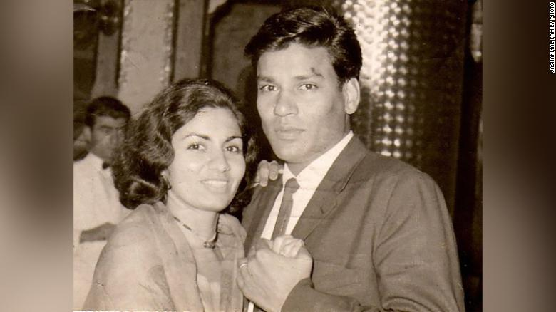 Shafali Jashanmal's parents, Mohan Jashanmal and Vanita Jashanmal, who married in India in November 1964.