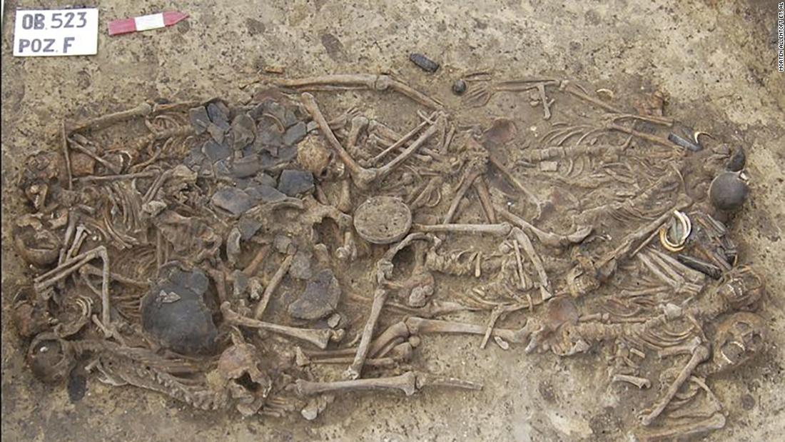 A mass grave dated to 5,000 years ago in Poland contains 15 people who were all from the same extended family.