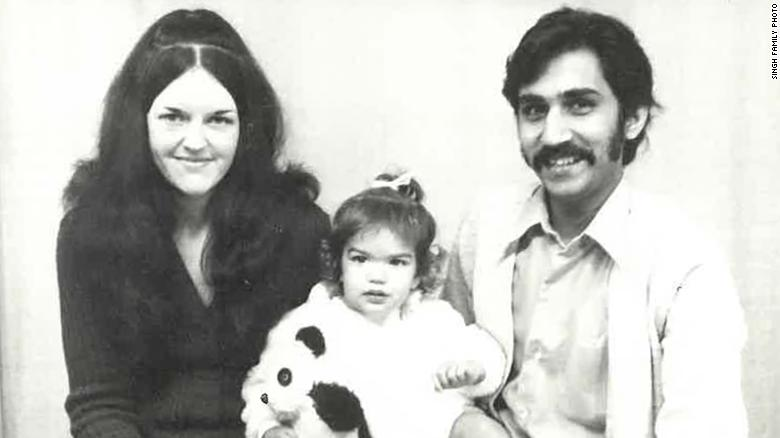 Lisa Singh with her parents, Lorraine and Uppi Singh.
