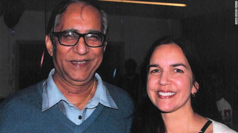 Lisa Singh with her father, Uppi Singh.