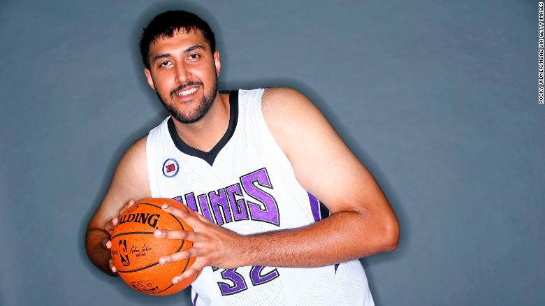 Sim Bhullarat the Sacramento Kings' practice facility in California on September 26, 2014.