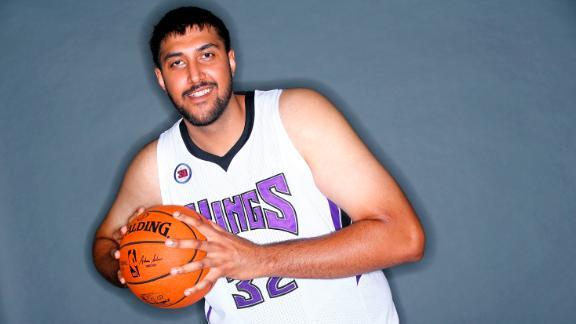Sim Bhullarat the Sacramento Kings' practice facility in California on September 26, 2014.