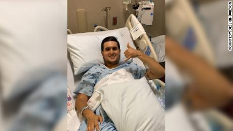 Pescaro smiled from his hospital bed on Saturday.