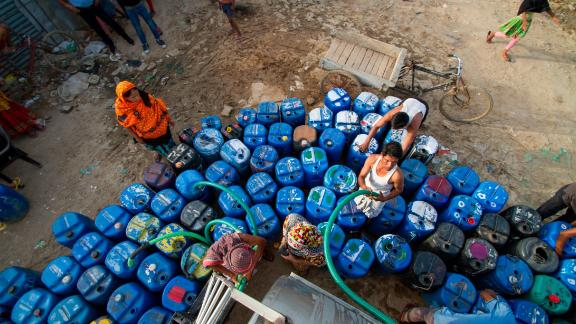 Families must stretch out their allotted water for 10 days. The supply often doesn