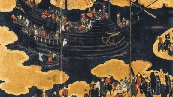 A Portuguese black ship arrives in Japan from Goa and Macau.