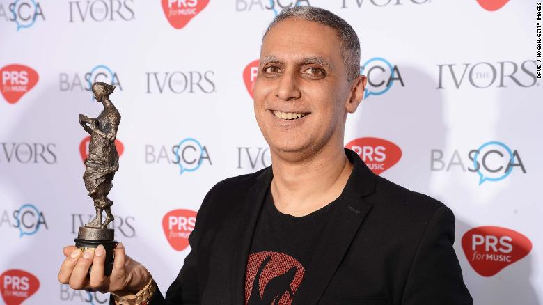 Nitin Sawhney wins the Lifetime Achievement award at the Ivor Novello Awards at Grosvenor House on May 18, 2017 in London, England.