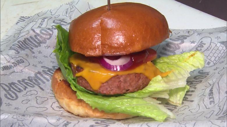 Meatless burgers in hot demand