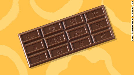 Hershey's temporary design with emojis.