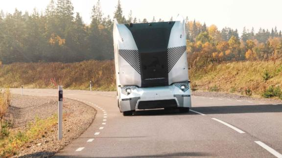 This self-driving electric truck is now being tested in an industrial zone in Sweden.
