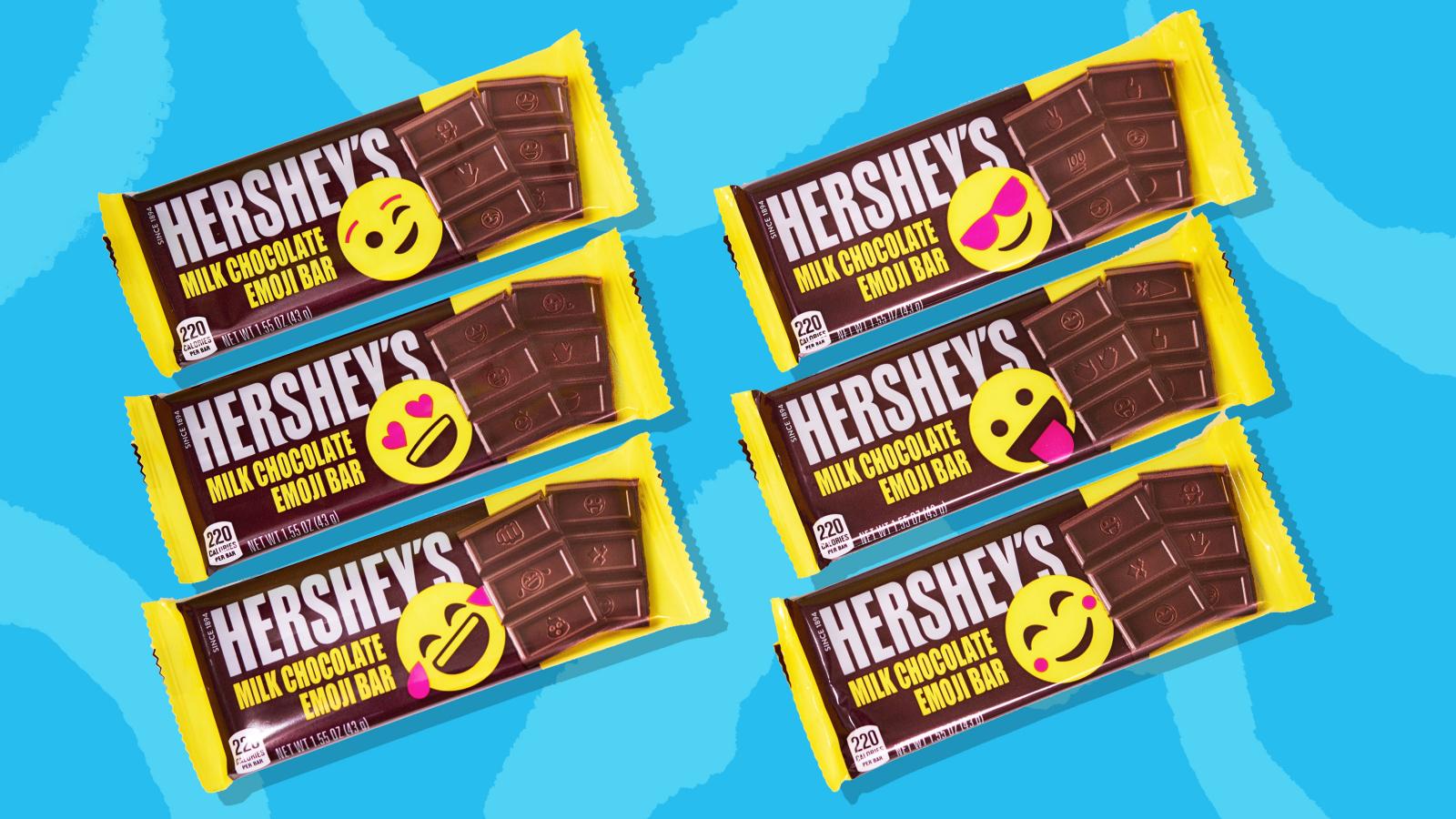 Los seis envoltorios diferentes que tendrán las barras de chocolate.