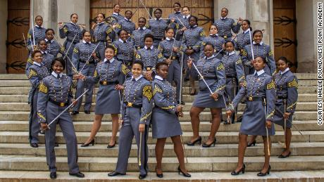 History in the making: These cadets will be among 34 African-American women who will graduate with the Class of 2019 from the United States Military Academy West Point.