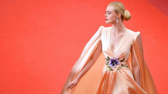Twenty-one-year-old Elle Fanning -- who is now the youngest ever Cannes jury member -- looks triumphant in Gucci.