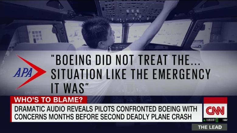 Audio reveals pilots confronted Boeing months before second deadly crash