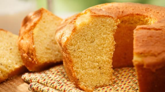 Brazil: Bolo de fuba is a cornbread-style cake with a moist and creamy texture that comes from the addition of grated Parmesan cheese and/or shredded coconut.