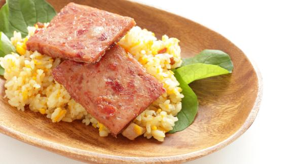 Guam: Spam is a favorite add-in for breakfasts of fried rice and eggs.