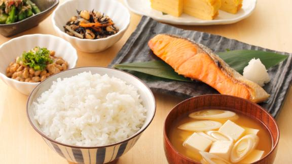 Japan: Fish like salmon or mackerel, miso soup, pickled vegetables and rice are all typically part of a traditional breakfast.